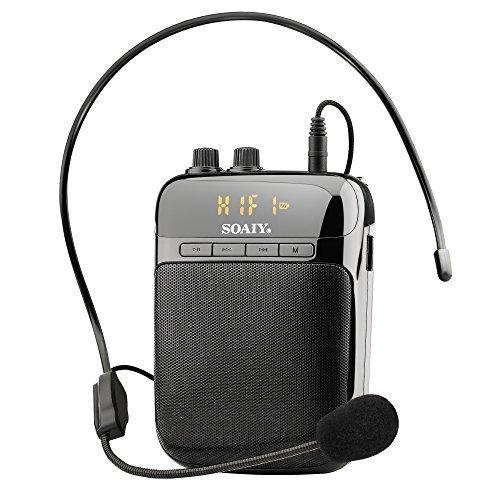 soaiy s318 2000mah amplificador de voz portable de...