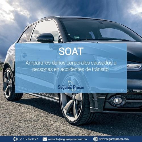soat, auto, familiar, modelos  2011 a 2020, menos de1500 cc
