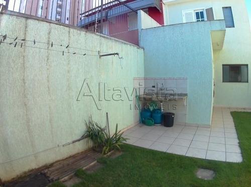sobrado 237m², terreno 8x32, 3 dormitórios, 4 vagas, bairro jardim - santo andré - so0101
