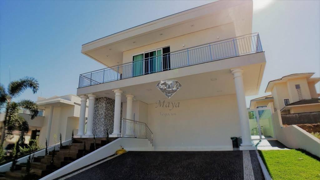 sobrado 4 suítes + home, 375 m², mobiliado, c/ lazer no mirante do lago - so0027