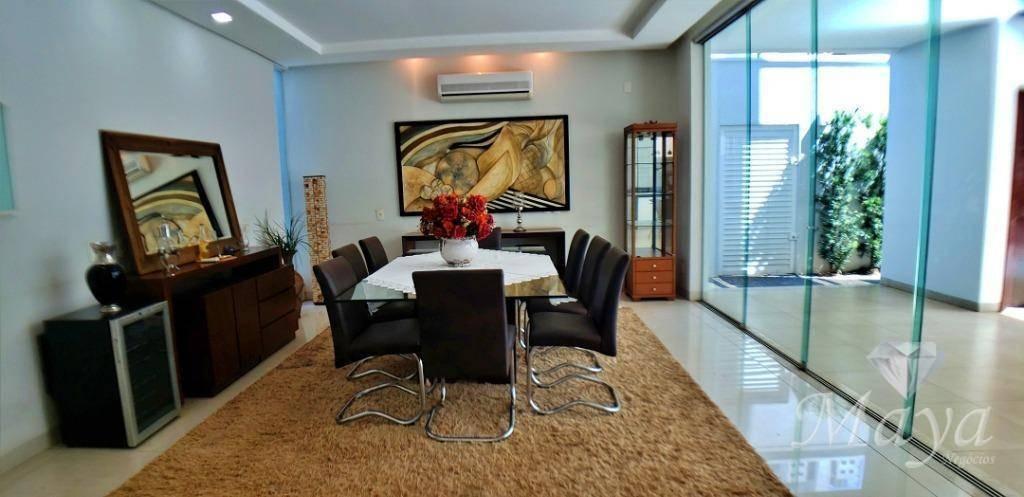 sobrado 5 suítes + escritório, 601 m², mobiliado e lazer na 204 sul - so0052