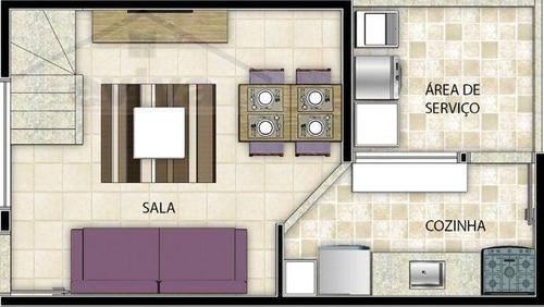 sobrado a venda em são vicente, bitaru, 2 dormitórios, 1 banheiro, 1 vaga - s02/167