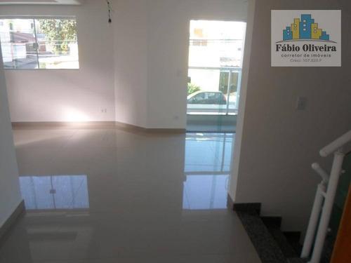 sobrado alto padrão  com 3 dormitórios à venda, 156 m² por r$ 580.000 - vila scarpelli - santo andré/sp - so0431