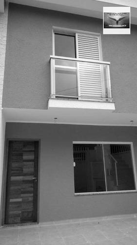 sobrado com 03 dormitórios ( 1 suíte ) 02 vagas fino acabamento  residencial à venda, jardim santo antônio, santo andré. - so0120
