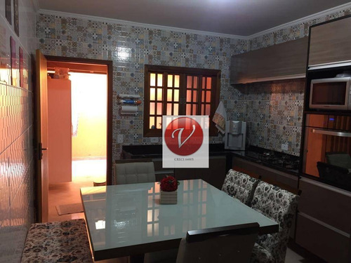 sobrado com 2 dormitórios à venda, 140 m² por r$ 521.000 - jardim utinga - santo andré/sp - so0706