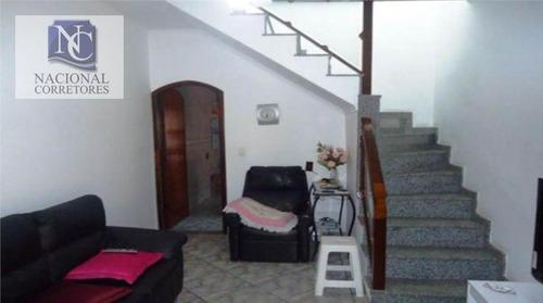 sobrado com 2 dormitórios à venda, 150 m² por r$ 425.000 - jardim santo alberto - santo andré/sp - so0881