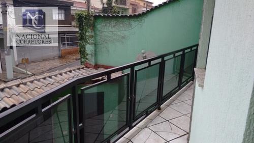 sobrado com 2 dormitórios à venda, 159 m² por r$ 500.000,00 - jardim santo antônio - santo andré/sp - so1549