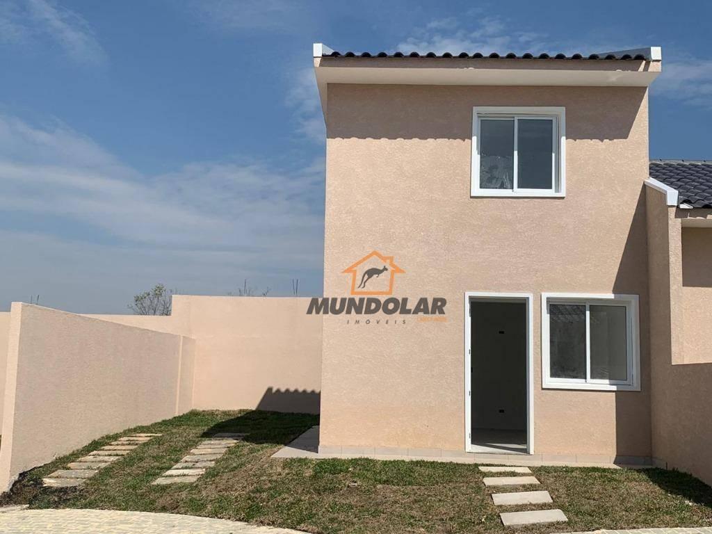sobrado com 2 dormitórios à venda, 54 m² por r$ 179.000 - costeira - araucária/pr - so0163