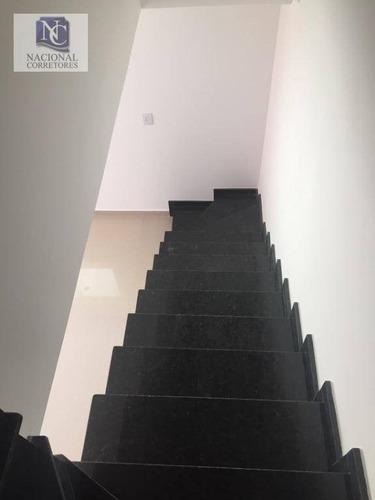 sobrado com 2 dormitórios à venda, 71 m² por r$ 350.000 - parque marajoara - santo andré/sp - so3427