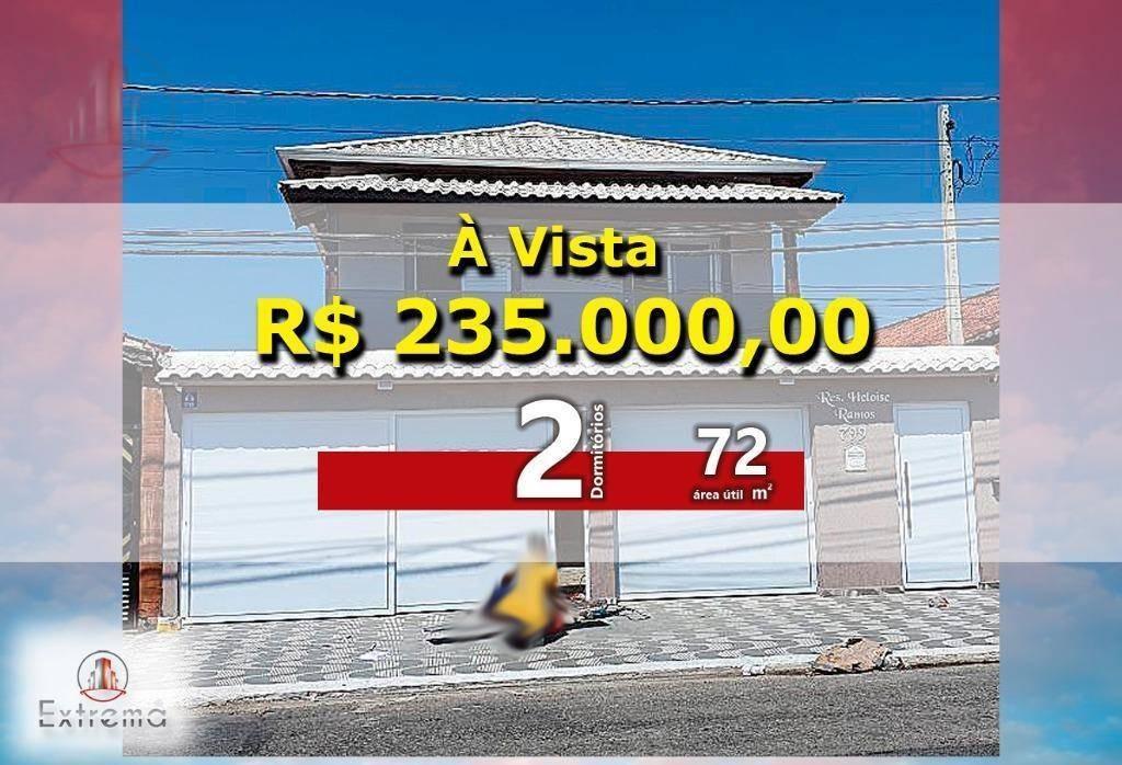 sobrado com 2 dormitórios à venda, 72 m² por r$ 235.000,00 - ocian - praia grande/sp - so0022