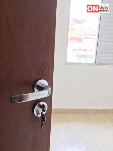 sobrado com 2 dormitórios à venda, 85 m² por r$ 500.000,00 - marapé - santos/sp - so0450