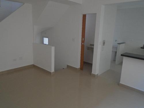 sobrado com 2 dormitórios à venda, 90 m² por r$ 390.000,00 - aparecida - santos/sp - so0388