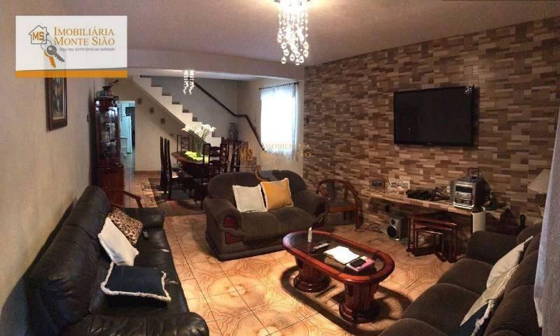 sobrado com 3 dormitórios, 262 m² - jardim bela vista - guarulhos/sp - so0023