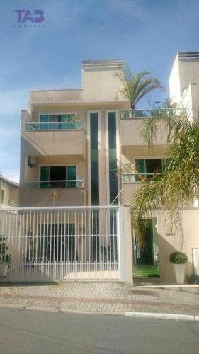 sobrado com 3 dormitórios para alugar, 180 m² por r$ 4.500,00/mês - praia brava - itajaí/sc - so0036
