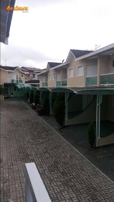 sobrado com 3 dormitórios para alugar, 90 m² por r$ 2.500/mês - condomínio fechado -jardim vila galvão - guarulhos/sp - so0177