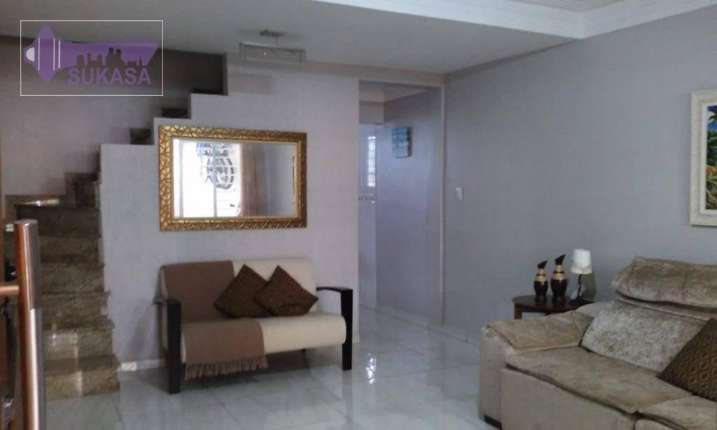 sobrado com 3 dormitórios à venda, 131 m² por r$ 526.000,00 - vila floresta - santo andré/sp - so0437