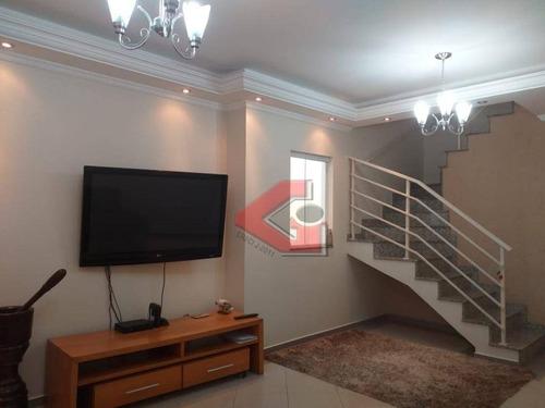 sobrado com 3 dormitórios à venda, 132 m² por r$ 575.000 - jardim independência - são bernardo do campo/sp - so1005