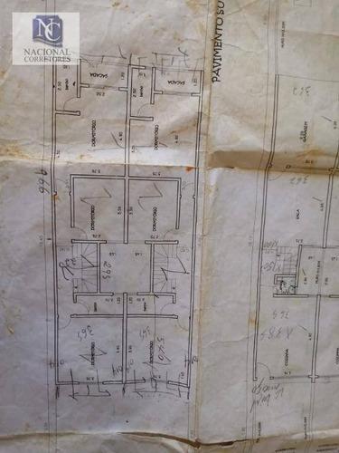 sobrado com 3 dormitórios à venda, 134 m² por r$ 700.000 - vila camilópolis - santo andré/sp - so3360
