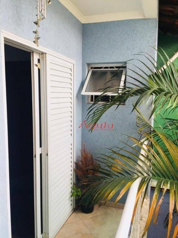 sobrado com 3 dormitórios à venda, 145 m² por r$ 520.000 - jardim milena - santo andré/sp - so1143