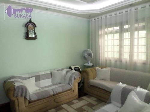 sobrado com 3 dormitórios à venda, 149 m² por r$ 850.000,00 - vila pires - santo andré/sp - so0362