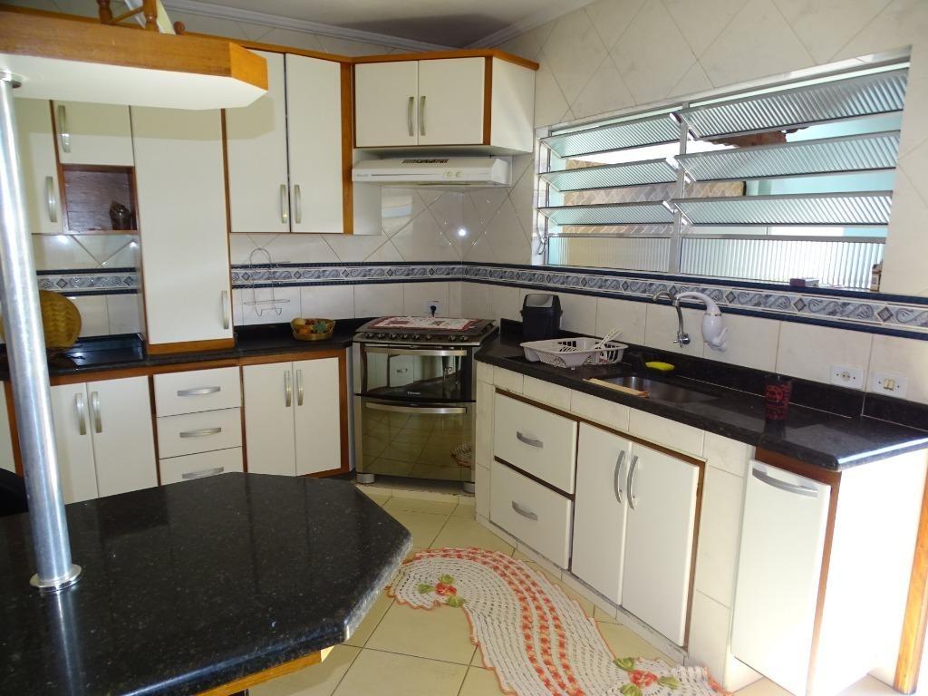 sobrado com 3 dormitórios à venda, 150 m² por r$ 350.000 - balneário jussara - mongaguá/sp - so0092