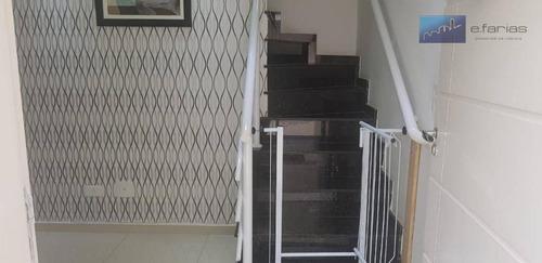 sobrado com 3 dormitórios à venda, 157 m² por r$ 650.000 - vila matilde - são paulo/sp - so0682
