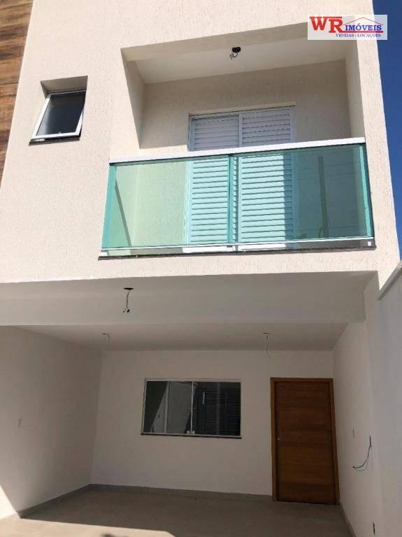 sobrado com 3 dormitórios à venda, 160 m² por r$ 580.000 - vila curuçá - santo andré/sp - so0745