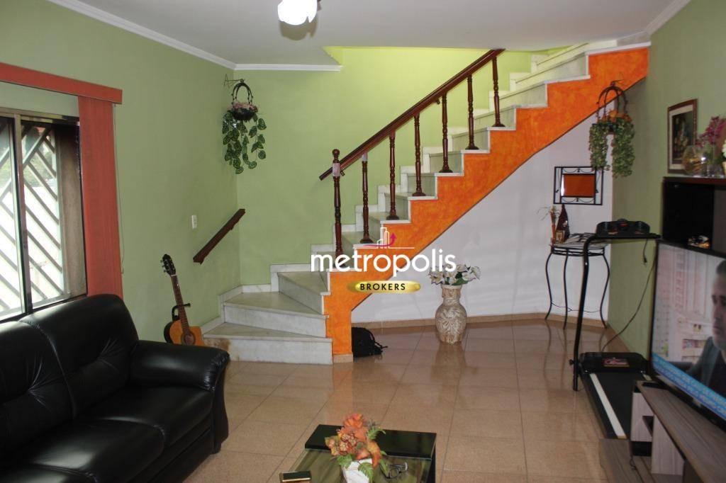 sobrado com 3 dormitórios à venda, 167 m² por r$ 700.000,00 - mauá - são caetano do sul/sp - so0457