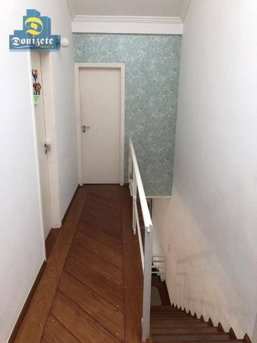 sobrado com 3 dormitórios à venda, 178 m² por r$ 900.000 - jardim bela vista - santo andré/sp - so2038