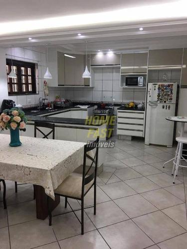 sobrado com 3 dormitórios à venda, 195 m² por r$ 529.000,00 - vila galvão - guarulhos/sp - so0645