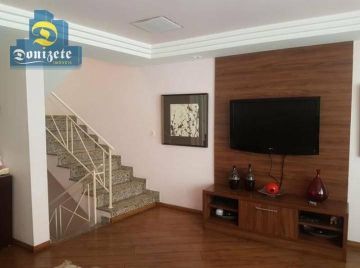 sobrado com 3 dormitórios à venda, 203 m² por r$ 1.050.000,00 - vila assunção - santo andré/sp - so2265
