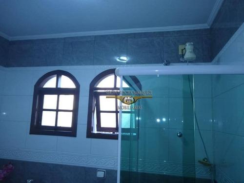 sobrado com 3 dormitórios à venda, 240 m² por r$ 800.000,00 - chácara belenzinho - são paulo/sp - so1305