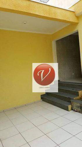 sobrado com 3 dormitórios à venda, 250 m² por r$ 595.000 - jardim santo antônio - santo andré/sp - so0662