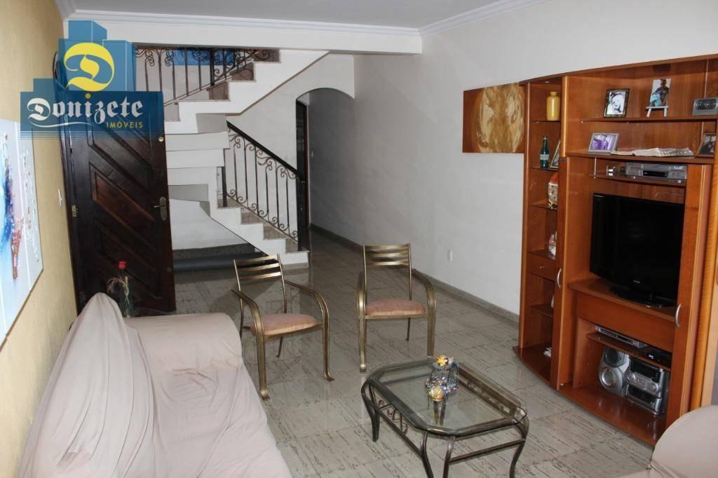 sobrado com 3 dormitórios à venda, 258 m² por r$ 532.000,00 - jardim milena - santo andré/sp - so0974