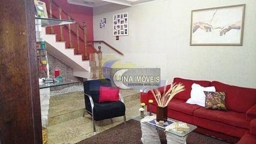 sobrado com 3 dormitórios à venda, 260 m² por r$ 890.000 - jardim hollywood - são bernardo do campo/sp - so0309