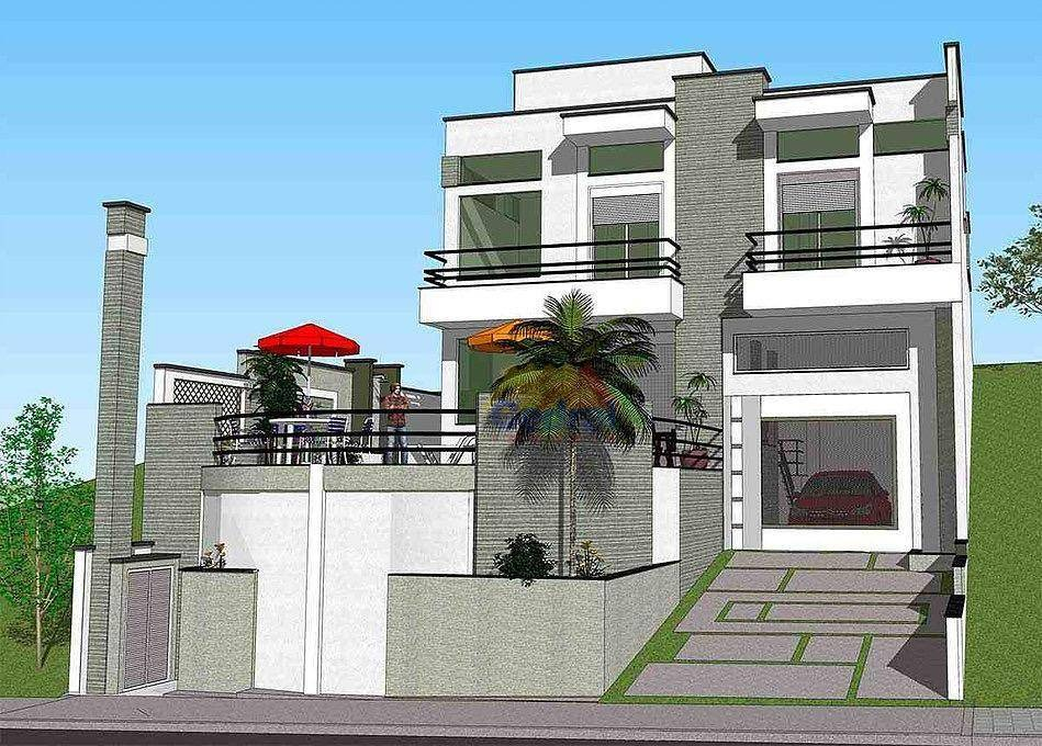 sobrado com 3 dormitórios à venda, 269 m² por r$ 1.600.000,00 - condomínio aruã - mogi das cruzes/sp - so0135