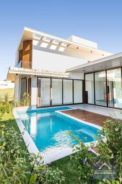 sobrado com 3 dormitórios à venda, 321 m² por r$ 1.900.000 - condomínio residencial giverny - sorocaba/sp, próximo ao shopping iguatemi. - so0133