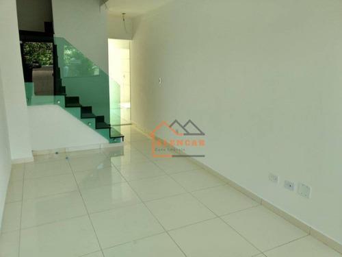 sobrado com 3 dormitórios à venda, 75 m² por r$ 350.000 - penha de frança - são paulo/sp - so0100
