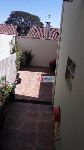 sobrado com 4 dormitórios à venda, 178 m² por r$ 650.000 - jardim das indústrias - são josé dos campos/sp - so0743