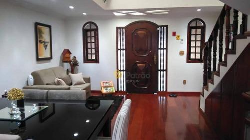 sobrado com 4 dormitórios à venda, 242 m² por r$ 670.000 - paulicéia - são bernardo do campo/sp - so0776