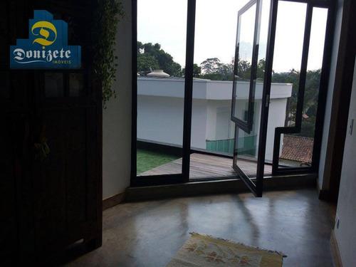 sobrado com 4 dormitórios à venda, 500 m² por r$ 3.000.000,00 - represa - ribeirão pires/sp - so1768