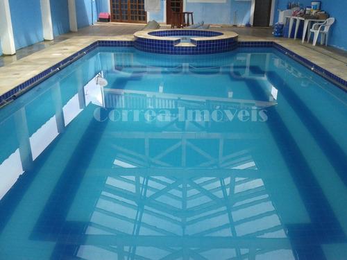 sobrado com piscina aquecida em juquitiba