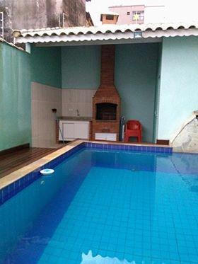 sobrado com piscina e churrasqueira - perto da praia - 1037