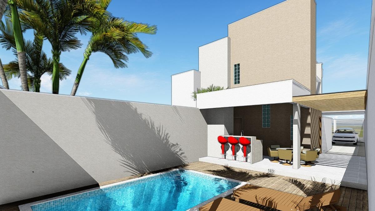 sobrado com piscina à venda em itanhaém lado praia. 398