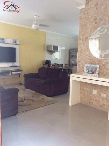 sobrado de condomínio com 2 dorms, vila júlia, guarujá - r$ 265.000,00, 70m² - codigo: 209 - v209