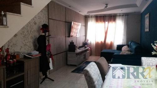 sobrado em condomínio a venda em mogi das cruzes, vila caputera, 3 dormitórios, 1 suíte, 3 banheiros, 3 vagas - vcod058