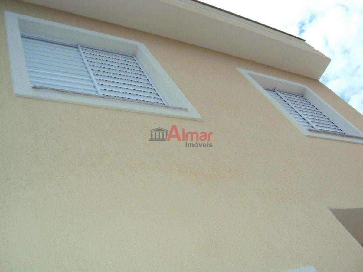 sobrado em condomínio fechado 2 dormitórios 1 vaga na vila ré - v7379
