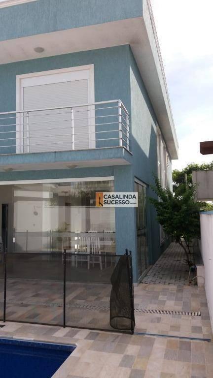 sobrado em condomínio fechado 3 dorms à venda, 277 m² por r$ 1.200.000 -próx a estrada da pedreira e av monte aconcágua - mogi das cruzes/sp-so0871 - so0871