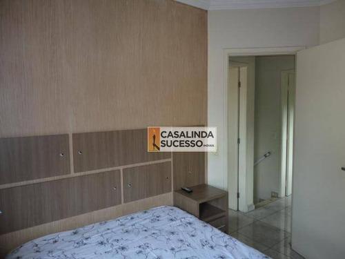 sobrado em condomínio fechado 80m² 3 dormts. 2 vagas próx. ao metrô guilhermina esperança - so0835 - so0835