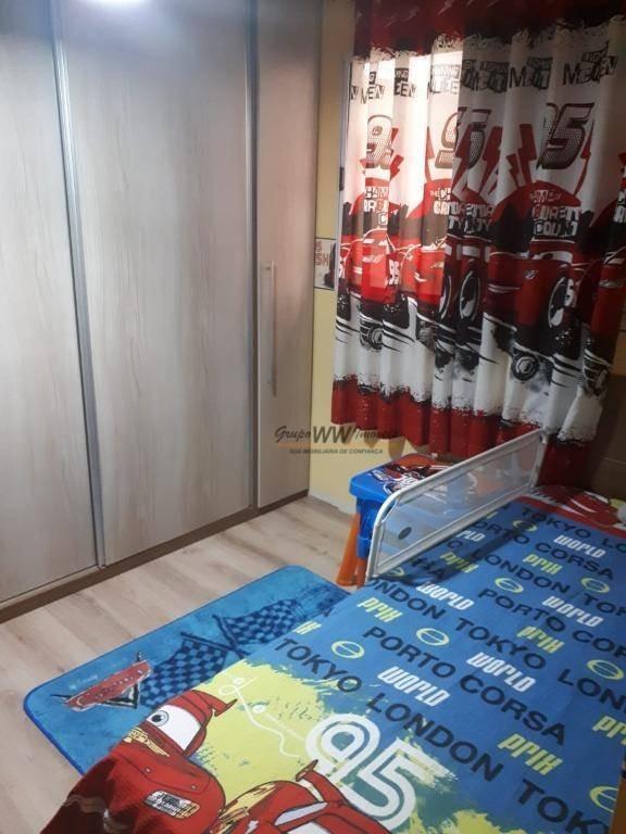 sobrado em condomínio fechado com 3 dormitórios à venda, 121 m² por r$ 498.000 - vila gustavo - são paulo/sp - so1390